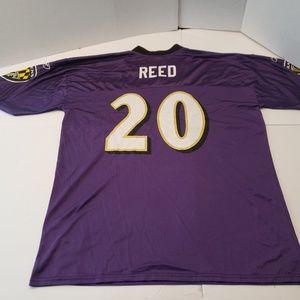 Reebok Ed Reed Baltimore Ravens #20 Jersey Mens Ad